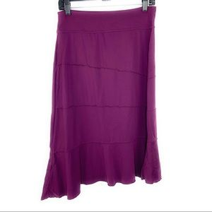 Athleta Asymmetrical Crescendo Purple Skirt